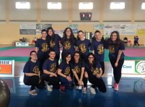 Il gruppo aerobica della juvenilia SCIOSCIA